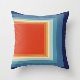 Retro Square Throw Pillow