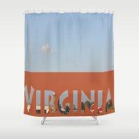 virginia Shower Curtains featuring Virginia by Ellies Wonder