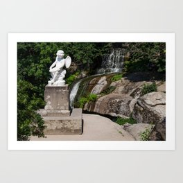 Sculpture in the park Art Print