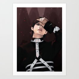 bts v fake love fanart Art Print