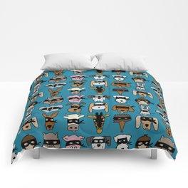 Ninja Animal Gang - Blue Comforters