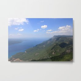 Climb Every Mountain With Wanderlust Metal Print