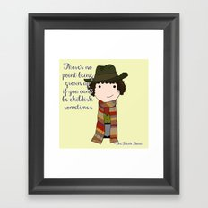 Doctor Who The Fourth Doctor Framed Art Print