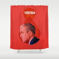 vertigo Shower Curtains featuring Vertigo  by Oh! My darlink