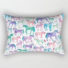 Pastel Unicorn Pattern Rectangular Pillow