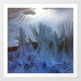 One Night white forest Art Print