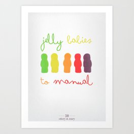 Jelly Babies to Manual Art Print