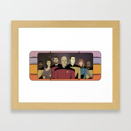 Star Trek: The Next Generation Crew Framed Art Print