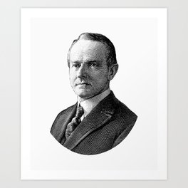 President Calvin Coolidge Graphic Art Print