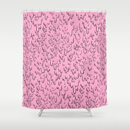 Melting Pink Slime Paint Shower Curtain