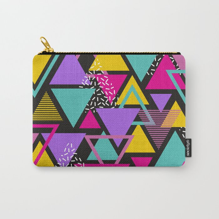 Memphis Triangles Carry-All Pouch