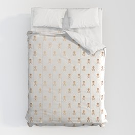 SKULLS PATTERN - ROSE GOLD - LARGE Comforters
