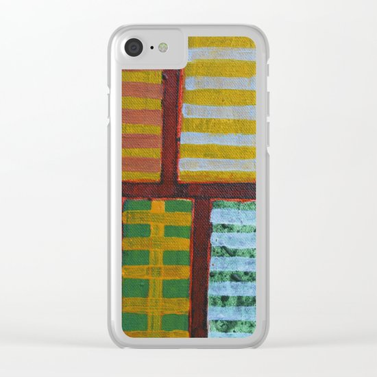 Crossing Lines Clear iPhone Case