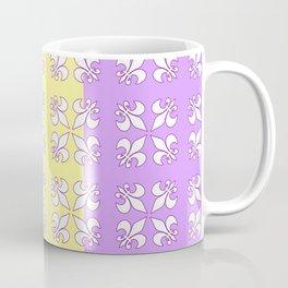 Tri colored MG with white fleur de lis Coffee Mug