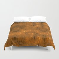 gold foil Duvet Covers featuring Gold Foil 10 by Robin Curtiss