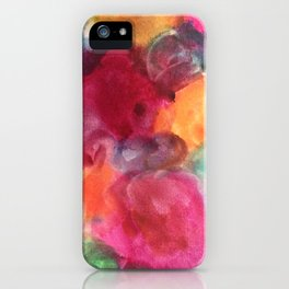 Floral Abstract Blooms iPhone Case
