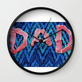 Fathers day funny design with potato peel Wall Clock