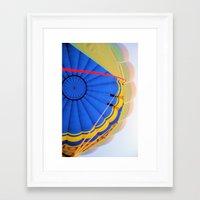 hot air balloon Framed Art Prints featuring BALLOON LOVE - Hot Air Balloon by Brian Raggatt