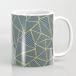 Ab Lines Gold and Navy Coffee Mug