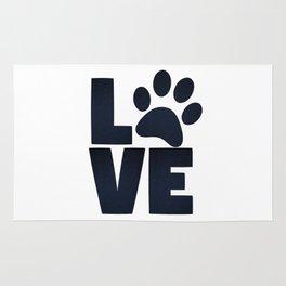 Love Pets Paw Cat Dog Cute Rug