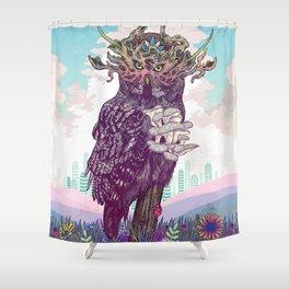 Journeying Spirit (Owl) Shower Curtain