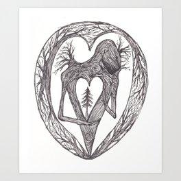 Sacred Pine Grove Of The Heart Art Print