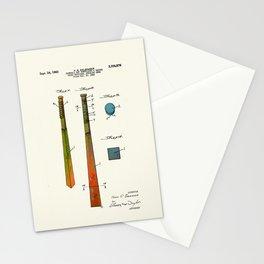 Patent drawing of a Baseball Bat - Circa 1960 Stationery Cards