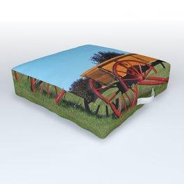 Wagon on a Hill Outdoor Floor Cushion