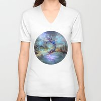 illusion V-neck T-shirts featuring Illusion by Veronique Meignaud MTG