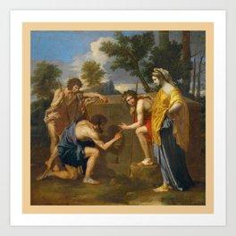 Nicolas Poussin, les bergers d'Arcadie / The Arcadian Shepherds Art Print