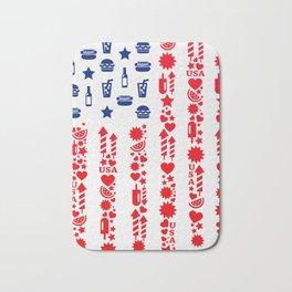 Fourth Of July Celebration USA Flag Bath Mat