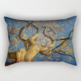 Curls . Fall tree in Boston Garden, MA Rectangular Pillow