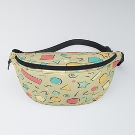 Basic Shapes in Yellow Background Fanny Pack