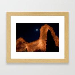 Midnight on the Rocks Framed Art Print