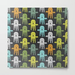 Funny ghosts Metal Print
