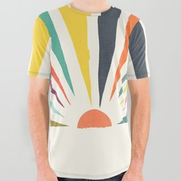 Rainbow ray All Over Graphic Tee