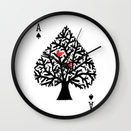 Ace of spade Wall Clock