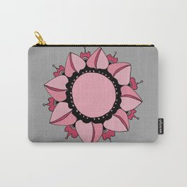 Rose, Pink & Gray Mandala Carry-All Pouch