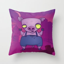Zombie Pig Throw Pillow