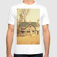 Lonely World White Mens Fitted Tee MEDIUM