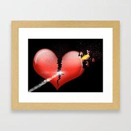 Heartbomb Framed Art Print