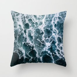 Minimalistic Veins in a Wave  - Seascape Photography Throw Pillow