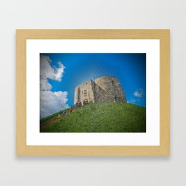 York, Cliffords tower in plastic Framed Art Print