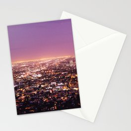 Magical Los Angeles Cityscape Stationery Cards