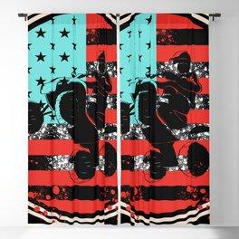 American Flag Motorbike Wheels Quad Bike Blackout Curtain