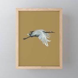 Japanese Crane Framed Mini Art Print