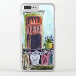 Cuban Balcony Clear iPhone Case