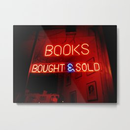 Books Bought and Sold Metal Print