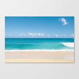 Turquoise wave Canvas Print