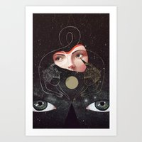sister Art Prints featuring Sister by Julia Sonmi Heglund
